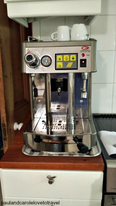 Coffee Machine - a great treat house sitting in eastnor