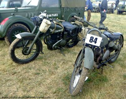 Vintage army motorbikes