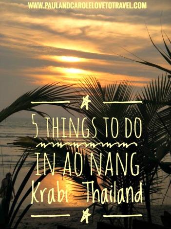 5 things to do in Ao Nang Thailand
