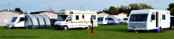 Our weekend staying at the Riverside Caravan Park, Stratford-upon-Avon, England