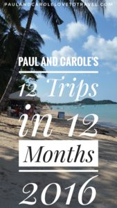 12 trips 12 months