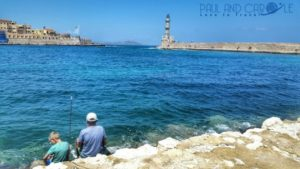 Chania Crete venetian harbour fishing