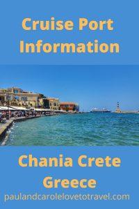 Chania Cruise Port Information Crete Greece