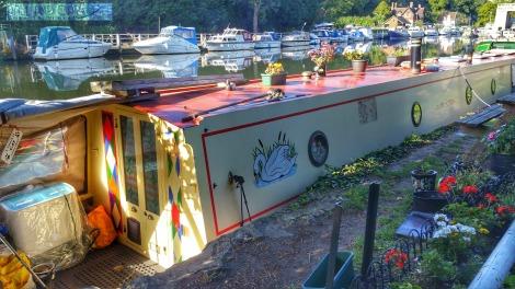Premier Inn Sandling Maidstone River Medway long boat