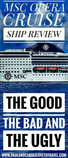 msc opera the good the bad and the ugly