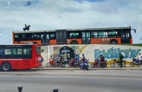 Havana Guide Cuba Paul and Carole Hooters and Habaneros #cuba #havana #guide #information #review #tips #travel #travelling #Caribbean #island #destination #classic #cars #advice #stay #blog #post #bloggers bus