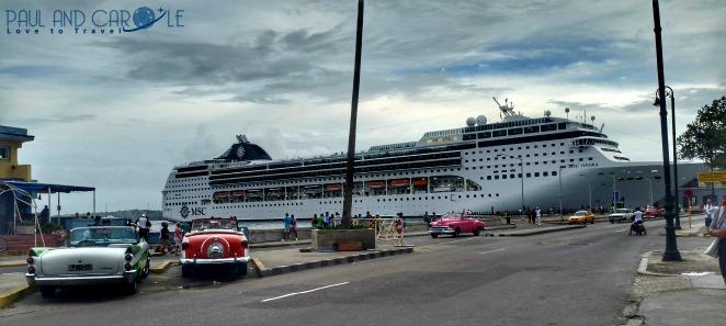 MSC Opera docked in Havana cruising