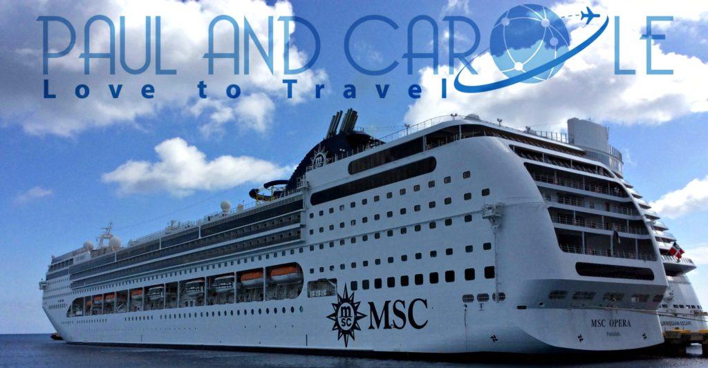 MSC Cruise Ship Opera cruising