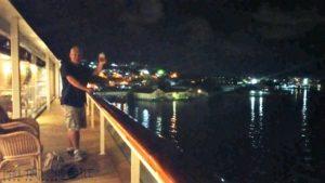 Balcony at the back of the La Vele Restaurant msc opera cruise ship cruising