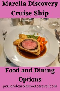 Marella Discovery Cruise Ship Food and Dining Options