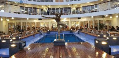 Marco Polo Cruise ship - pool deck #CMV #cruising #maritime #voyages #marcopolo #marco #polo #cruise #reviews #pool # deck
