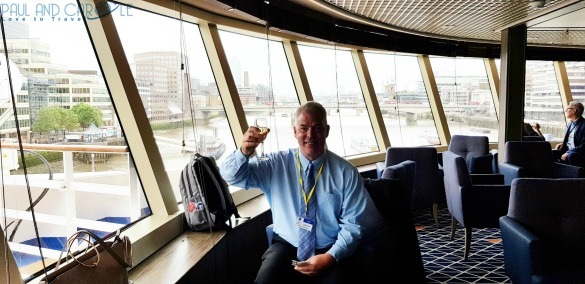 Paul drinking champagne Tor's observation lounge silversea cruises review silver cloud cruise ship expedition cruises #silversea #cruises #thisissilversea #expedition #cruising