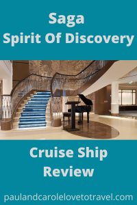 Saga Spirit Of Discovery Cruise Ship Review - Find out all about this beautiful ship here, and what cruising with Saga is like! #Saga #Cruises #SpiritofDiscovery #ßagacruises