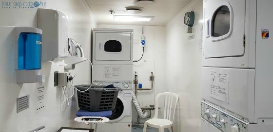 P&O Oceana Cruise Ship laundrette #cleancloths #laundry #ironing #washing #lessluggage #oceana