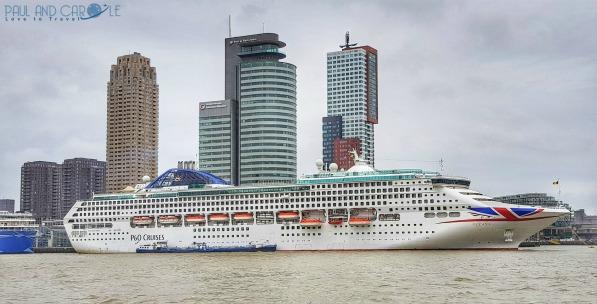 P&O Oceana docked in Rotterdam #P&O #P&O Oceana P&O cruises #Rotterdam #europeancruiseports #cruises #shiplife #Belgium