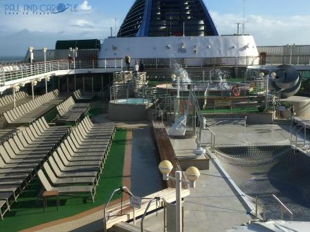 P&O Oceana cruise ship sun deck  #P&O #P&O Oceana P&O cruises #europeancruiseports #cruises #shiplife #sundeck #relaxation #stormyweather #paulandcarole