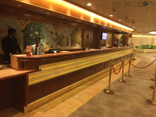 P&O Oceana cruise ship reception #customerservice #alwayshelpfull #customerrelations #moneyexchange #excursions