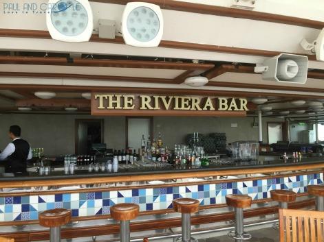 P&O Oceana - rivera bar on the sun deck #P&O #P&O Oceana P&O cruises #europeancruiseports #cruises #shiplife #sundeck #relaxation #sunshine