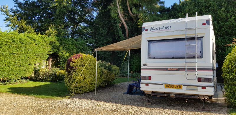 Pitch 12 Wysdom Touring Park Campsite Burford Oxfordshire