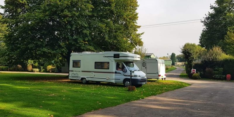 Sterretts caravan park grass pitches
