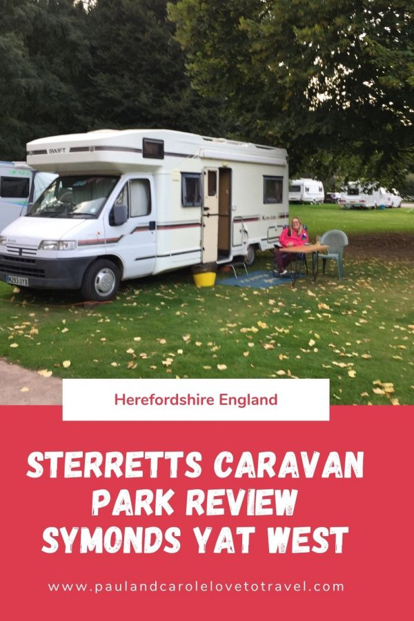 Pin new red Sterretts caravan park Symonds Yat West herefordshire England
