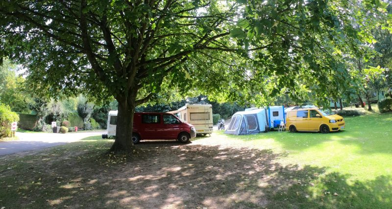 camping field with hook up sterretts caravan park