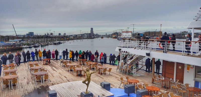 sailing out of Dublin on the Marco Polo British Isles cruise
