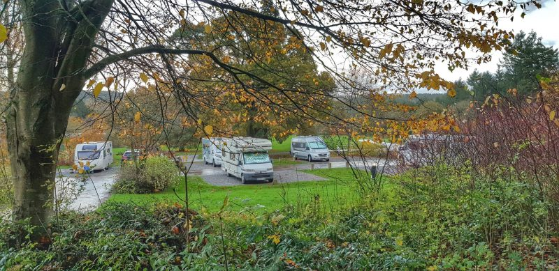 pitches hardstanding at whitemead forest park campsite