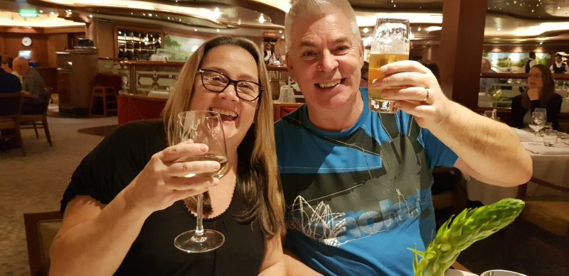 Drinks menus and packages P&O cruises Paul and Carole
