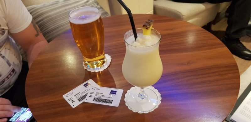 Cocktails and beer P&O drinks packages