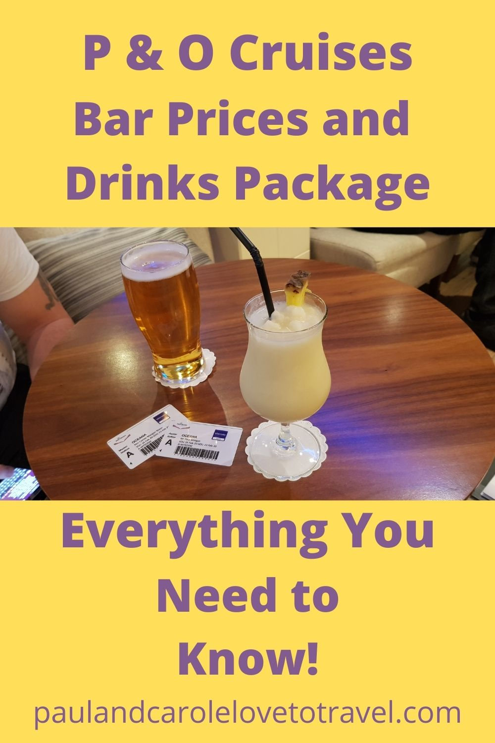 po cruises drinks packages and bar prices paul and carole love to travel