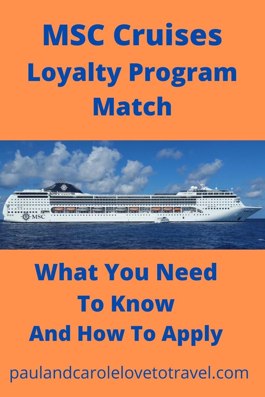MSC Cruises Loyalty Match program pin