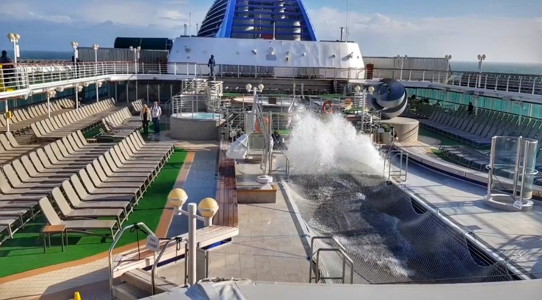 P&O Oceana how to prevent seasickness on a cruise Paul and Carole