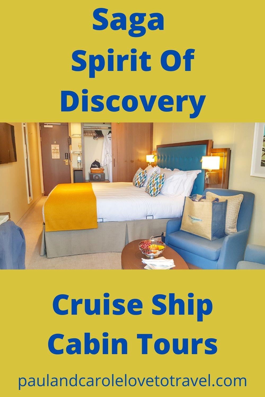 Saga Spirit of Discovery Cruise Ship Cabin Tours