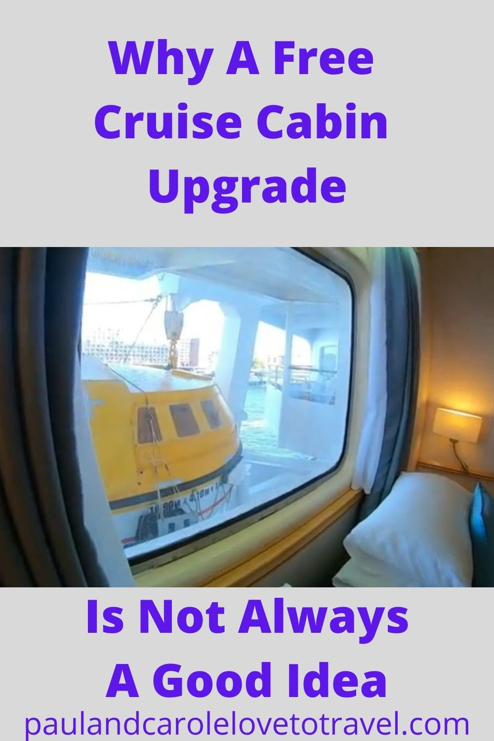 Why a free cabin upgrade is not always a good idea.