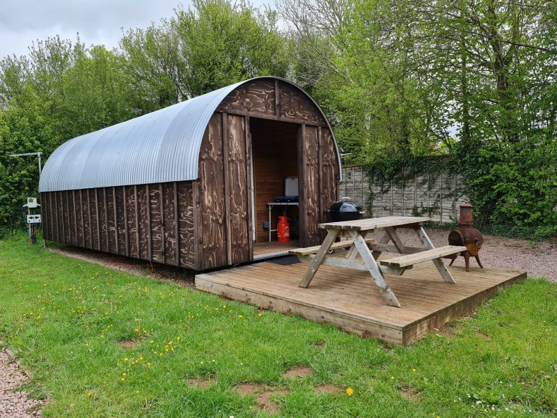 Glamping arks Greenway Farm Campsite