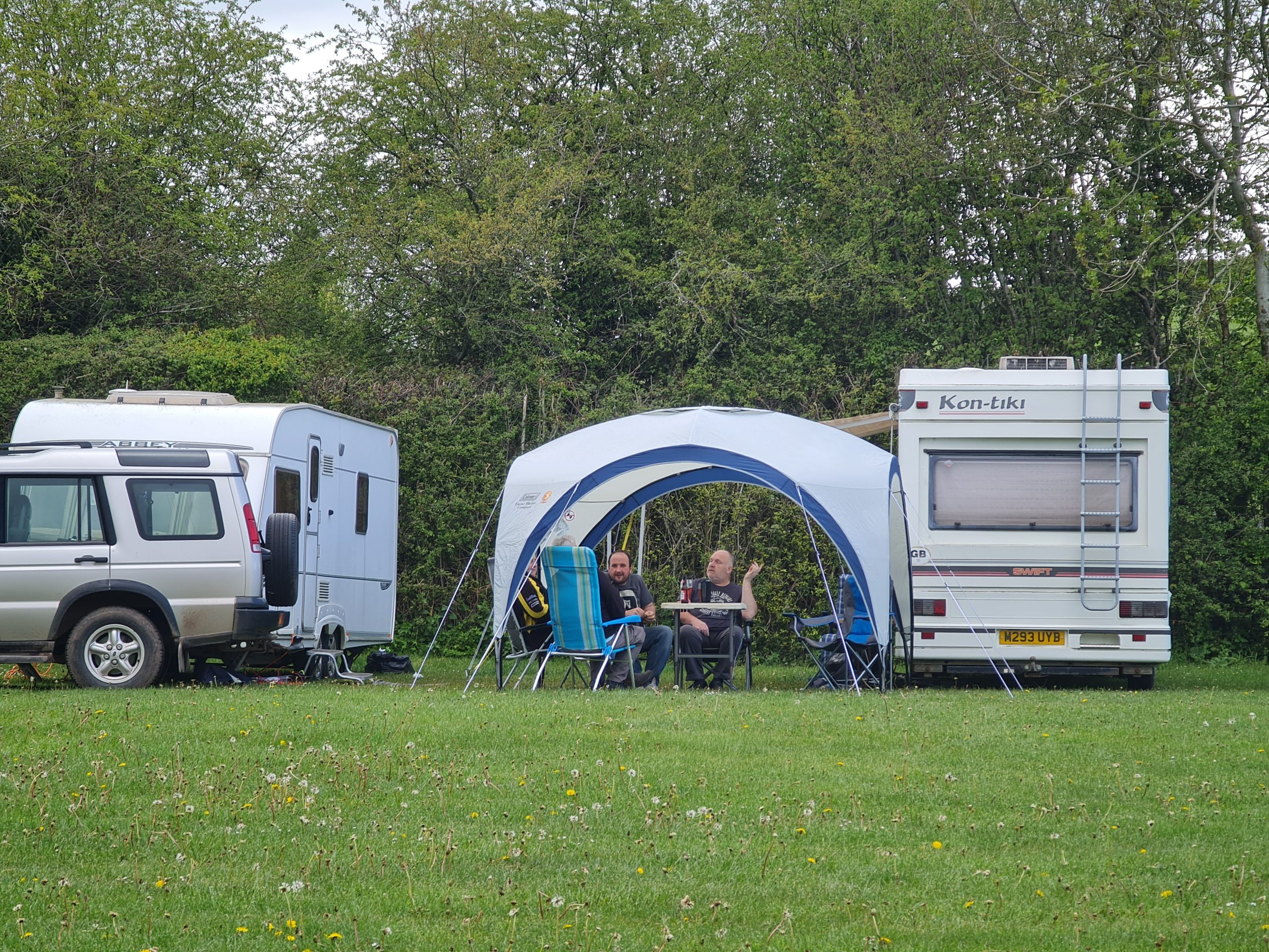 Our pitch Greenway Farm Campsite Puddlebrook Forest of Dean Gloucestershire