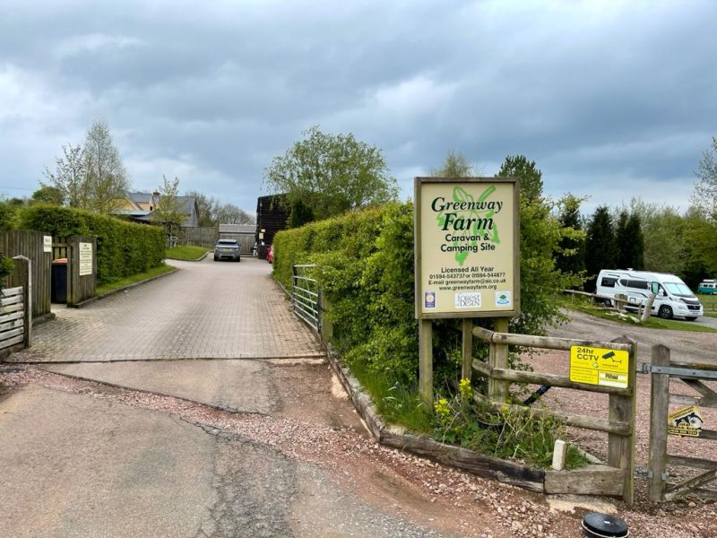 Entrance Greenway Farm Campsite Puddlebrook Forest of Dean Gloucestershire