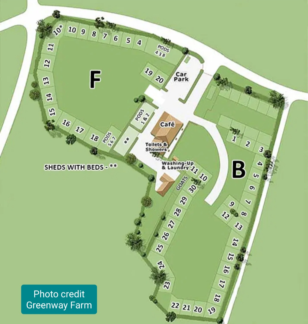 Greenway Farm Campsite Puddlebrook Forest of Dean Gloucestershire Map