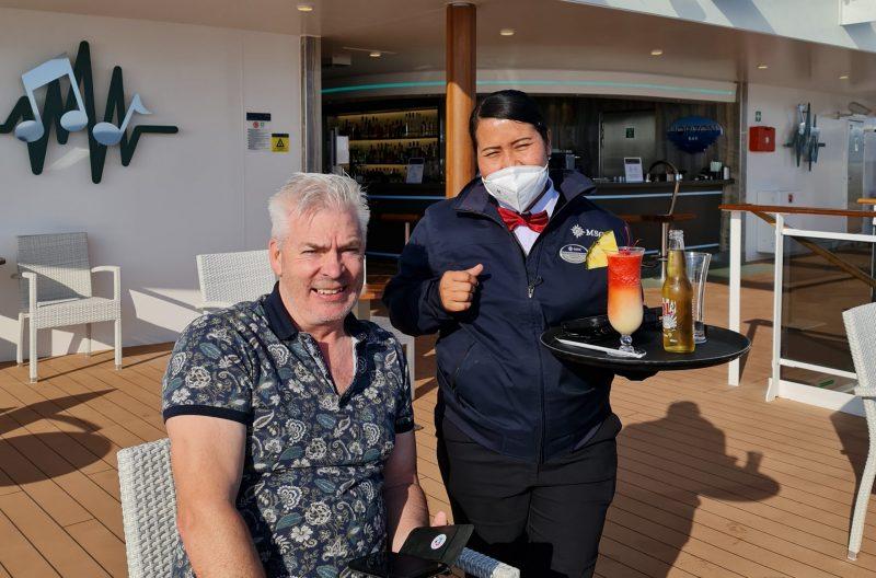 Niawan favourite waitress Horizon Bar MSC Virtuosa cruise ship