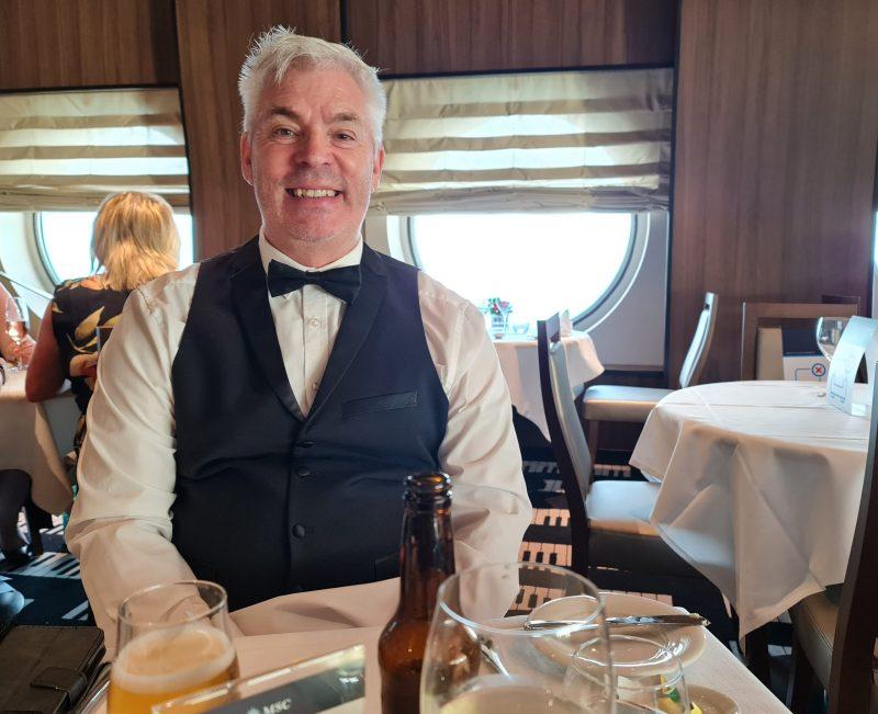 Minuetto Restaurant MSC Virtuosa Paul in formal bow tie