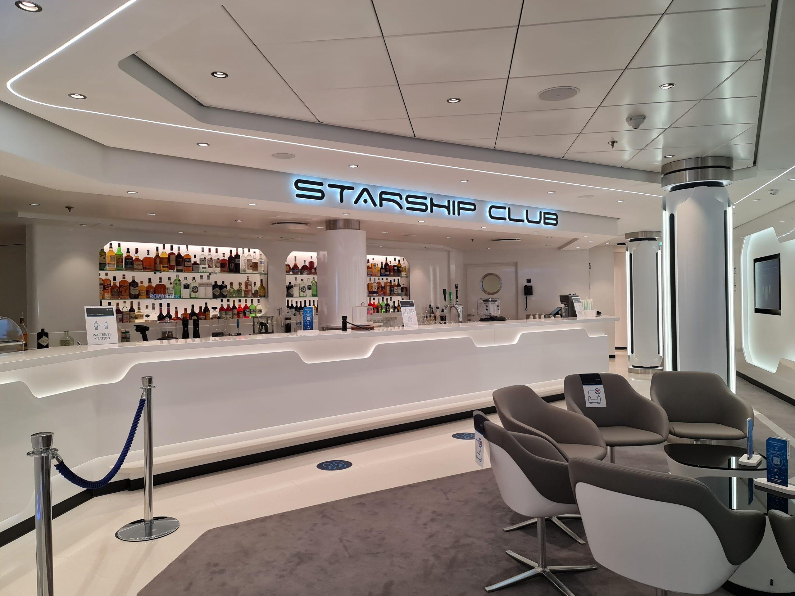 Starship Bar Rob the Robot MSC Virtuosa Cruise Ship