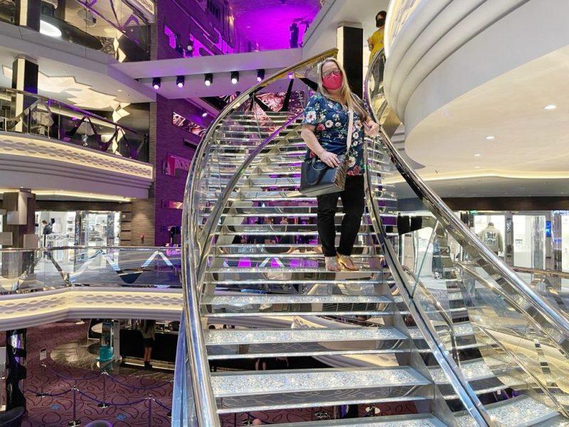 Atrium Carole Swaroski Staircase MSC Virtuosa