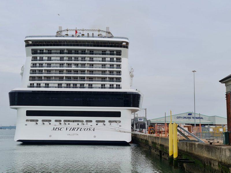 MSC Virtuosa at City terminal in Southampton Paul and Carole embarkation seacation