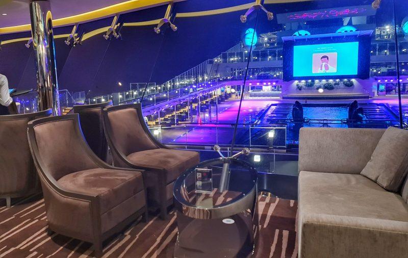 MSC Virtuosa Sky Lounge looking over to pool