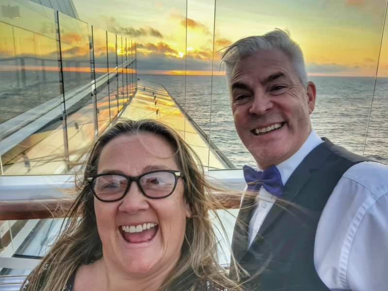 Paul and Carole Anthem of the Seas Sunset