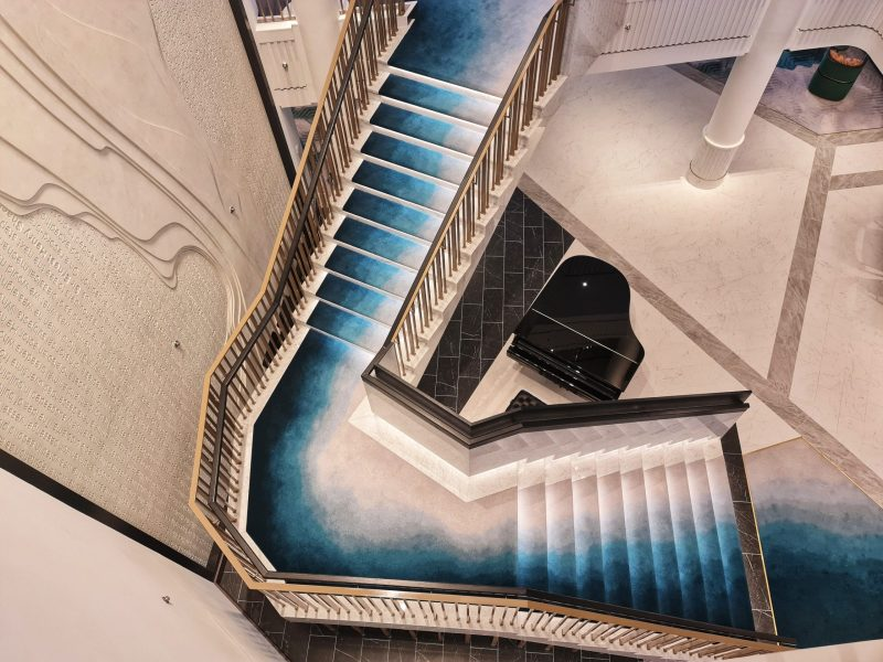 Spirit of Adventure Cruise Ship Staircase from the Living Room Cruise Ship Saga