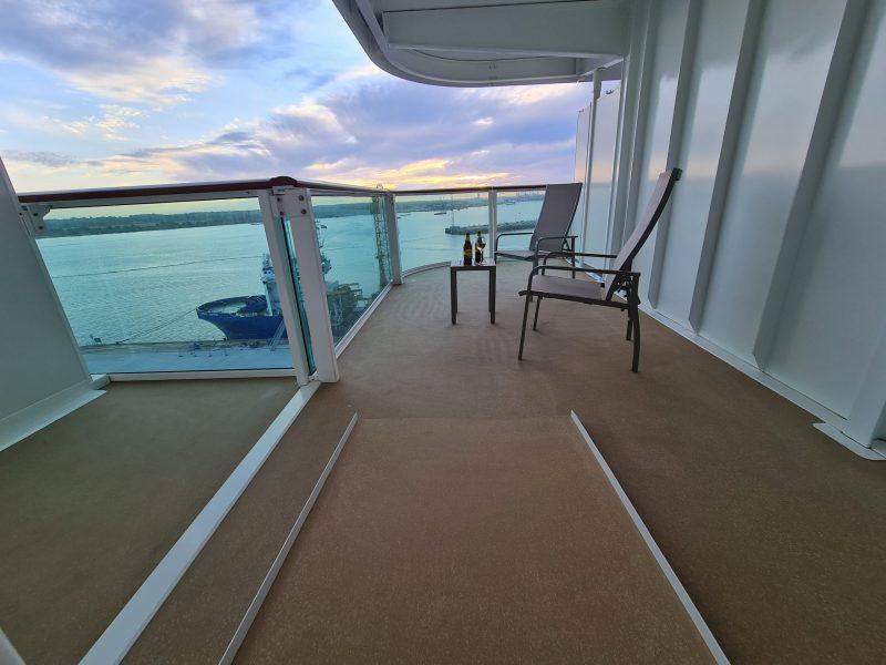 P&O Iona Accessible Balcony Cabin 12514 Review balcony