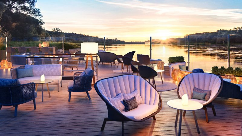 A-ROSA Names New eco-friendly River Cruise Ship - A-ROSA SENA sun deck