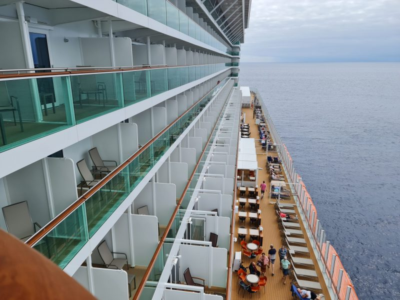 P&O Iona Accessible Balcony Cabin 12514 Review balcony aft views